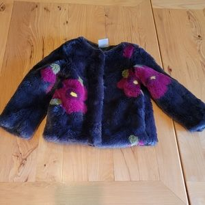 Genuine kids from Oshkosh faux fur floral coat